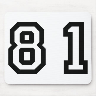 Number Eighty One Mouse Pad