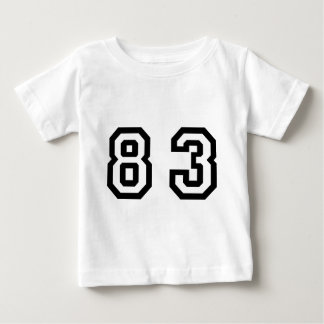 Number Eighty Three T Shirts