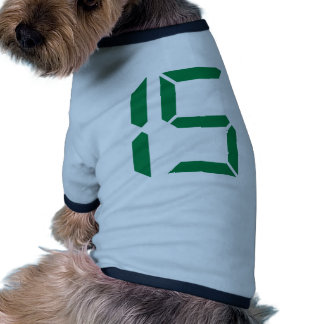 Number - Fifteen - 15 Dog Clothes