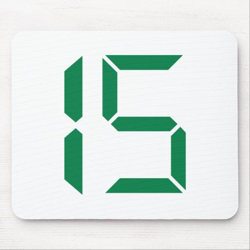 Number - Fifteen - 15 Mousepads | Zazzle