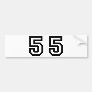 Number Fifty Five Bumper Sticker