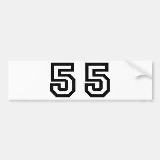 Number Fifty Five Bumper Sticker
