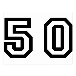 Number Fifty Postcard