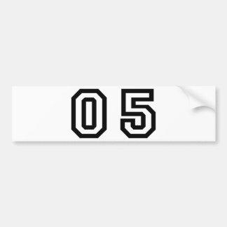 Number Five Bumper Sticker