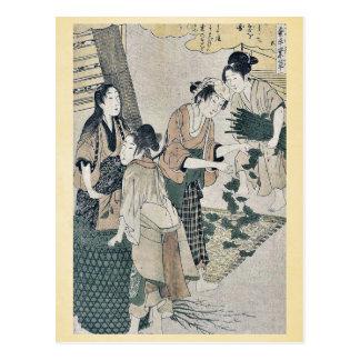 Number five by Kitagawa, Utamaro Ukiyoe Postcard