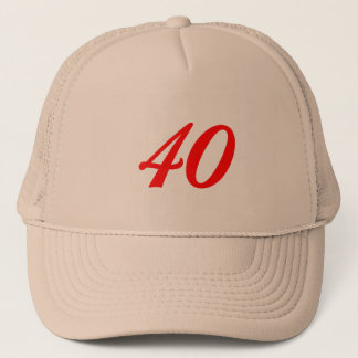 Number Forty 40th Birthday Gifts Trucker Hat
