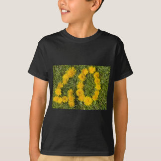 number forty drawn with dandelion on the lawn T-Shirt