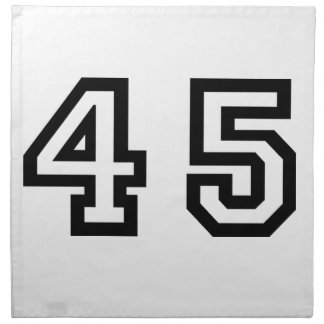 Number Forty Five Napkin