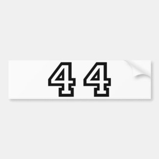 Number Forty Four Bumper Sticker