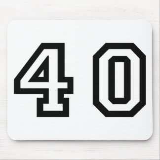 Number Forty Mouse Pad