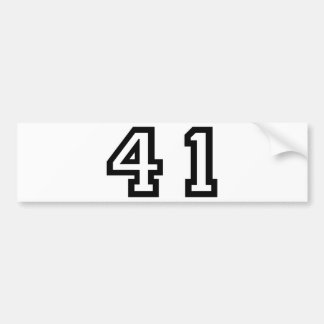 Number Forty One Bumper Sticker