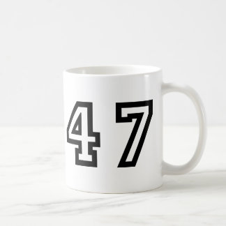 Number Forty Seven Coffee Mug