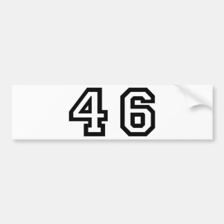 Number Forty Six Bumper Sticker