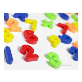 Number magnets postcard