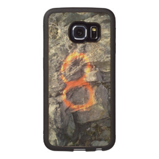 Number Mountain 8 Wood Phone Case