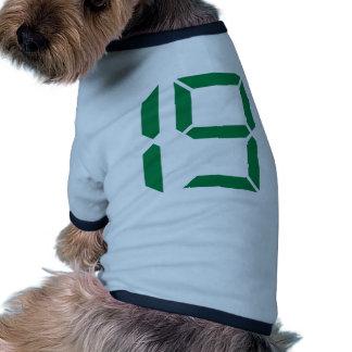 Number - Nineteen – 19 Doggie Shirt