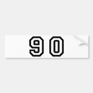 Number Ninety Bumper Sticker