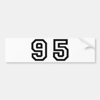 Number Ninety Five Bumper Sticker