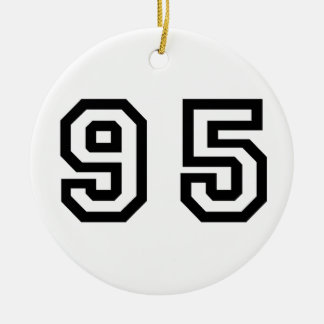 Number Ninety Five Christmas Ornament