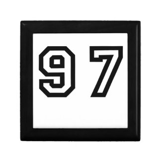 Number Ninety Seven Small Square Gift Box