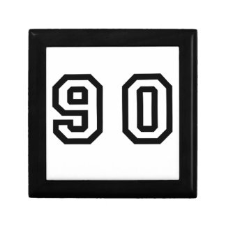 Number Ninety Small Square Gift Box