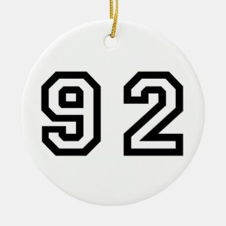 Number Ninety Two Christmas Ornament