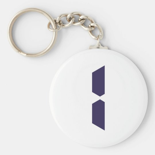 Number - One - 1 Basic Round Button Key Ring