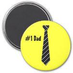 Number One #1 Dad Black Stripes Fake Tie