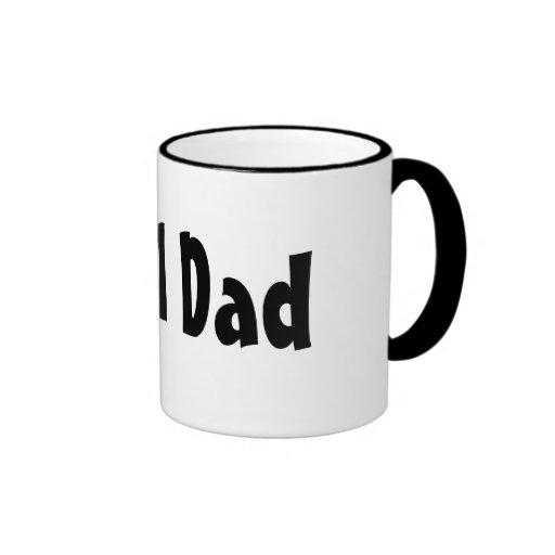 Number One #1 Dad Black Stripes Fake Tie Ringer Mug