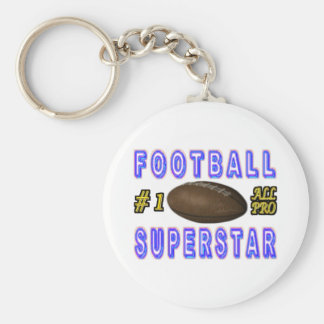 Number One All Pro Football Superstar Key Chain