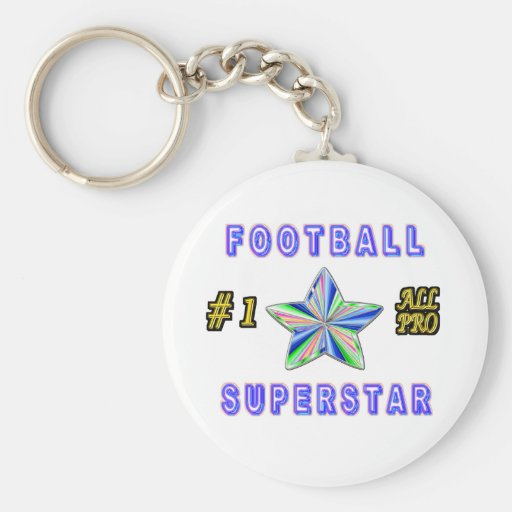Number One All Pro Football Superstar Keychain