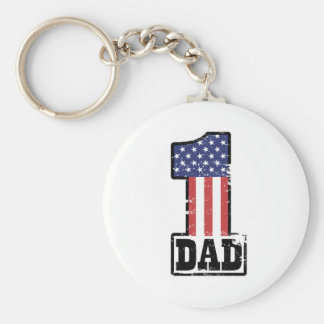 Number One American Dad Basic Round Button Key Ring
