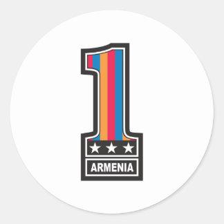 Number One Armenia Classic Round Sticker