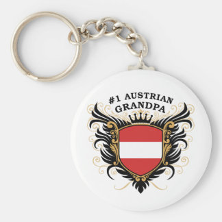 Number One Austrian Grandpa Basic Round Button Key Ring