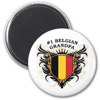 Number One Belgian Grandpa 6 Cm Round Magnet