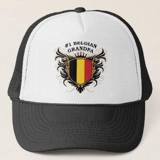 Number One Belgian Grandpa Trucker Hat