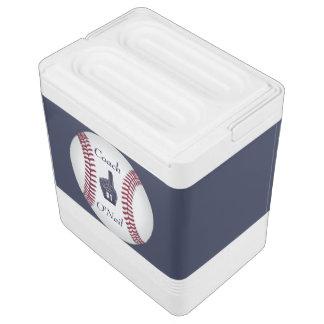 Number One Best Baseball Coach or Player Custom Igloo Cool Box