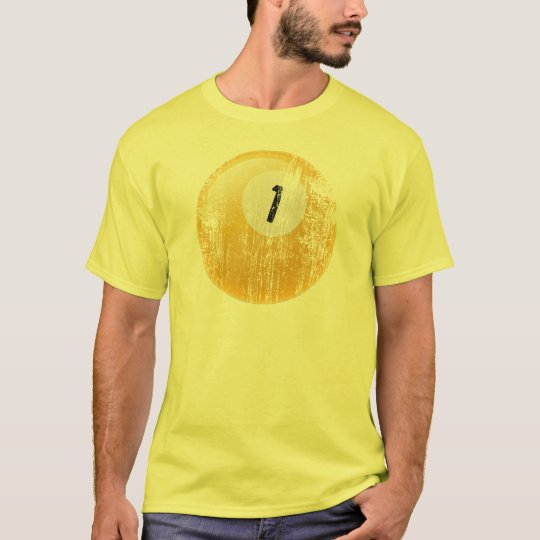 NUMBER ONE BILLIARDS BALL - AGED AND ERODED T-Shirt