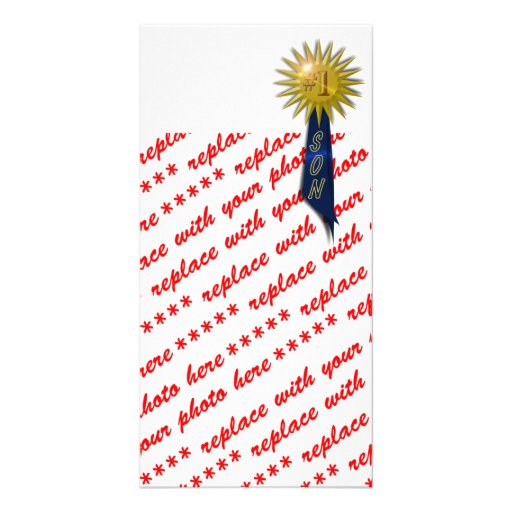 Number One Blue Ribbon For Son Picture Card