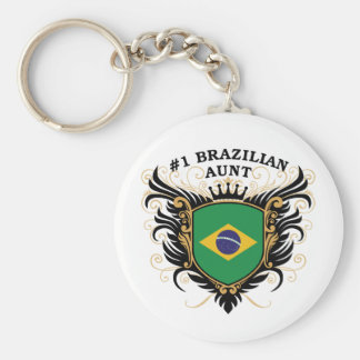 Number One Brazilian Aunt Key Chain