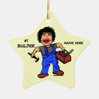 Number One Builder Christmas Ornament