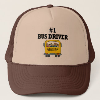 Number One Bus Driver Trucker Hat