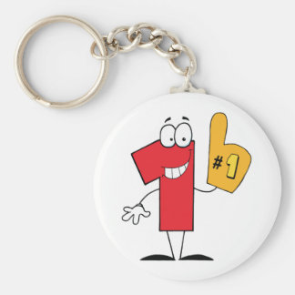 Number One Cartoon Character Keychain