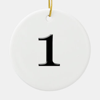 number one christmas ornament