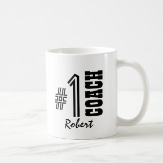 Number One COACH Black and White A01 Classic White Coffee Mug