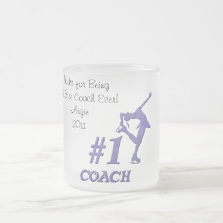 Number One Coach Frosted Mug - Purple
