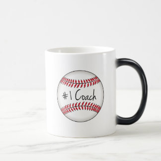 Number One Coach on Baseball Morphing Mug