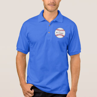 Number One Coach on Baseball Polo T-shirt