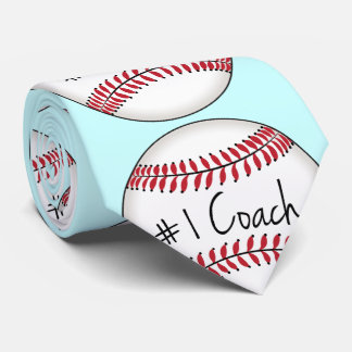Number One Coach on Baseball Tie