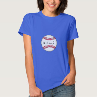 Number One Coach on Baseball Tshirt